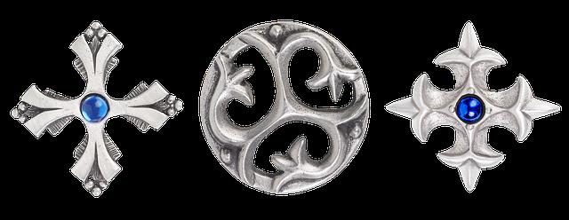 stříbrný ornamenty